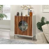 Brayden Studio® Victoriaville 1 Drawner 2 Door Rectangular Accent Cabinet Wood in Brown/Gray/Green, Size 36.0 H x 31.0 W x 11.0 D in | Wayfair