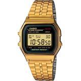 Men's Digital Vintage Gold-tone Stainless Steel Bracelet Watch 34mm A159wgea-1mv - Metallic - G-Shock Watches