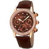 Women's Leather Watch - Brown - August Steiner Watches