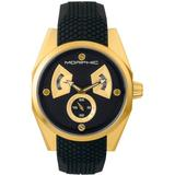M34 Series, Gold/black Silicone Watch, 44mm - Black - Morphic Watches
