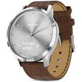 Vivomove Hr Brown Alligator - Embossed Leather Strap Touchscreen Hybrid Smartwatch - Metallic - Garmin Watches