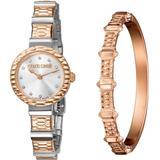 Swiss Quartz Two-tone Rose Gold Stainless Steel Watch & Bracelet Gift Set, 26mm - Metallic - Roberto Cavalli Watches