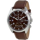 Chronograph Brown Dial Watch - Brown - Seiko Watches