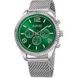 Green Dial Stainless Steel Mesh Watch - Green - August Steiner Watches