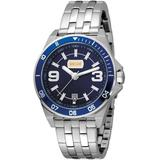 Blue Dial Stainless Steel Watch - Blue - Just Cavalli Watches
