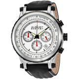 Chronograph Silver Dial Watch - Metallic - August Steiner Watches