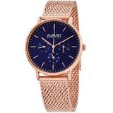 Mesh Bracelet Blue Dial Watch - Blue - August Steiner Watches