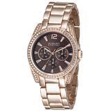 Rose Gold-tone Metal Brown Dial Quartz Watch - Metallic - August Steiner Watches