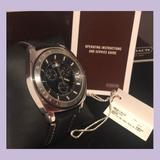 Coach Accessories | Coach | Swiss Movement Black Leather Band Watch | Color: Black/Silver | Size: Os