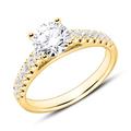 Ring aus 750er Gold mit Diamanten