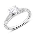 Ring aus 18-karätigem Weißgold mit Diamanten