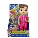 Baby Alive Mix My Medicine Baby Doll, Dinosaur Pajamas, Drinks and Wets, Doctor Accessories, Brown Hair Toy for Kids Ages 3 and Up