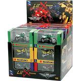 NEW 1:32 NEW RAY MOTORCYCLES COLLECTION - LIL' XTREME MOTORCYCLE & ATV ASSORTMENT 24 PIECE w/ Display Box Model Car By NEW RAY TOYS Set of 24 Motocycles
