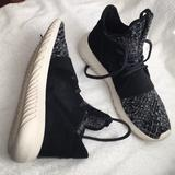Adidas Shoes   Adidas Suede Leather Knitted Tubular Sneakers   Color: Black/Gray   Size: 9