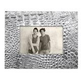 Mariposa Croc Picture Frame Metal in Gray, Size 7.25 H x 9.5 W x 0.5 D in   Wayfair 4722