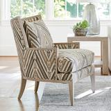 """Barclay Butera Ashwood 32"""" Wide Down Cushion Armchair Other Performance Fabrics in Brown, Size 38.0 H x 32.0 W x 35.5 D in 