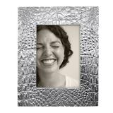 Mariposa Croc Picture Frame Metal in Gray, Size 8.5 H x 10.75 W x 0.5 D in   Wayfair 4723