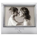 Mariposa Favorite Son Signature Picture Frame Metal in Gray, Size 4.0 H x 5.5 W x 0.5 D in   Wayfair 4300FS