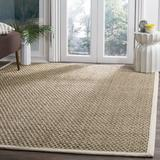 Laurel Foundry Modern Farmhouse® Grassmere Natural/Ivory Area Rug Bamboo Slat & Seagrass in White, Size Rectangle 3' x 5' | Wayfair