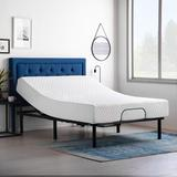 Lucid Dream Collection 10-in. Firm Memory Foam Mattress with Essential Adjustable Bed Base, Size: Queen, White