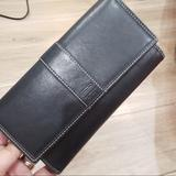 Coach Bags   Black Leather Trifold Wallet With Checkbook Cover   Color: Black   Size: 4 12 7 34