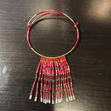 Anthropologie Jewelry   Anthropologie Red Beaded Choker Necklace   Color: Red   Size: Os