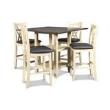 Lark Manor™ Lavardin 5 Piece Dining Set Wood/Upholstered Chairs in Brown, Size 36.0 H in | Wayfair FFCDBA30DBFF4BAF9F684DE9F7EE3FBC