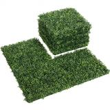 Costway 12 Pieces 20 x 20 Inch Artificial Plant Wall Panel for Wedding Decor Fence