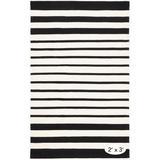 Dash and Albert Rugs Port Striped Handmade Flatweave Black/Indoor/Outdoor Area Rug Polypropylene in White   Wayfair DA1333-35