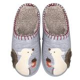 Cute Squirrel Animal Slippers for Women Mens Winter Warm Memory Foam Cotton Home Slippers Soft Plush Fleece Slip on House Slippers for Boys Indoor Outdoor Shoes