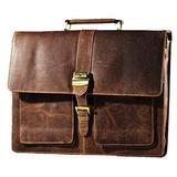 Satchel and Fable Vintage Handmade Leather Messenger Bag for Laptop Briefcase Best Computer Satchel School Distressed Bag (16 inch)