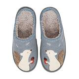 Cute Squirrel Animal Slippers for Women Mens Winter Warm Memory Foam Cotton Home Slippers Soft Plush Fleece Slip on House Slippers for Girls Indoor Outdoor Shoes