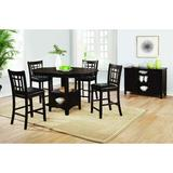 Red Barrel Studio® Bernao 5 Piece Counter Height Dining Set Wood in Brown, Size 36.25 H in   Wayfair 496ED80CA5A347E88C3354760530A43E