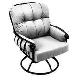 Fleur De Lis Living Urquhart Patio Chair w/ Cushion Metal, Size 41.0 H x 33.0 W x 33.0 D in | Wayfair 3621900-01_6112-B