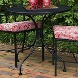 Canora Grey Midsomer Metal Bistro Table Metal in Black, Size 29.0 H x 30.0 W x 30.0 D in | Wayfair 3203100-01