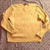 Polo By Ralph Lauren Sweaters   100% Lambswool Polo Sweater Xxl   Color: Gold   Size: Xxl