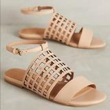 Anthropologie Shoes | Anthro Leather Caged Sandals Corso Como | Color: Cream | Size: 8