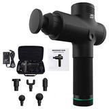 WBM Smart Muscle Massage Gun for Athletes, Quiet, Portable, Electric and Handheld, with 6 Massage Heads