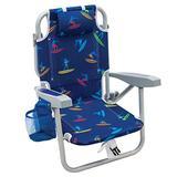 Rio Beach Kid's 5-Position Lay Flat Backpack Folding Beach Chair, Surf Power Surfer