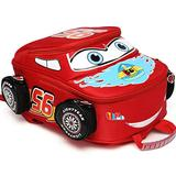 Toddler Boys Girls Backpack Waterproof Cartoon Truck Car Kindergarten Child Snack School Bag (Red)