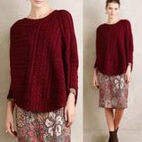 Anthropologie Sweaters   Anthropologie Red Cable Sweater   Color: Red   Size: S