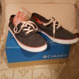 Columbia Shoes   Columbia Crankbait Lace Canvas Tennis Shoes   Color: Gray/Pink   Size: 7.5
