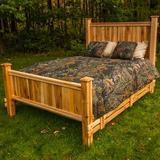 Millwood Pines Leedy Solid Wood Standard Bed Wood in Brown/Red, Size 64.0 W x 91.0 D in   Wayfair E1E31271764548319D41A7023F5AAEDA