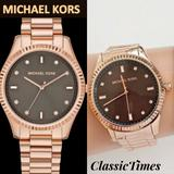Michael Kors Accessories | **New** Michael Kors Blake Brown Dial Rose Gold-To | Color: Brown/Gold | Size: Os