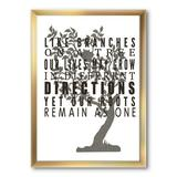 East Urban Home 'Family Tree Branches' - Picture Frame Textual Art Print on Canvas Metal in Black/Brown, Size 40.0 H x 30.0 W x 1.5 D in | Wayfair