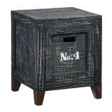 Wyatt Storage End Table in Coal - Progressive Furniture A746-69