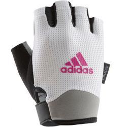 adidas Fitnesshandschuhe Damen in weiß, Größe L