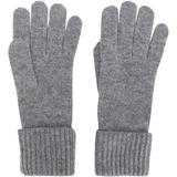 Cashmere Ribbed Gloves - Gray - N.Peal Cashmere Gloves