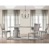 One Allium Way® Jaron 5 Piece Dining Set Wood/Upholstered Chairs in Brown/Gray, Size 30.0 H in   Wayfair 763FEB08FC3643AAB597FC56F53F9865