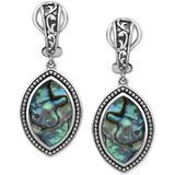 Effy® Abalone Marquise Drop Earrings In Sterling Silver - Metallic - Effy Earrings